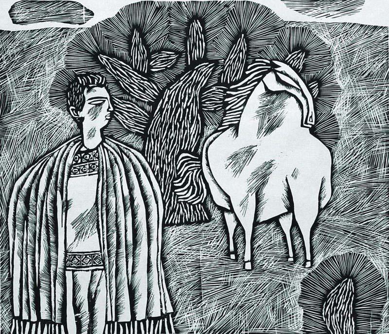 【转载】康宁的黑白木刻版画; 康宁版画; 【怒波·鱼】:康宁版画欣赏