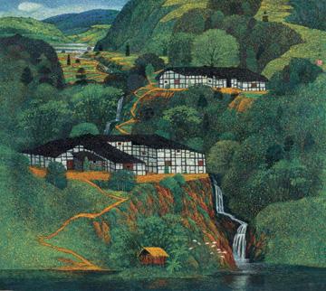 南斯拉夫油画风景