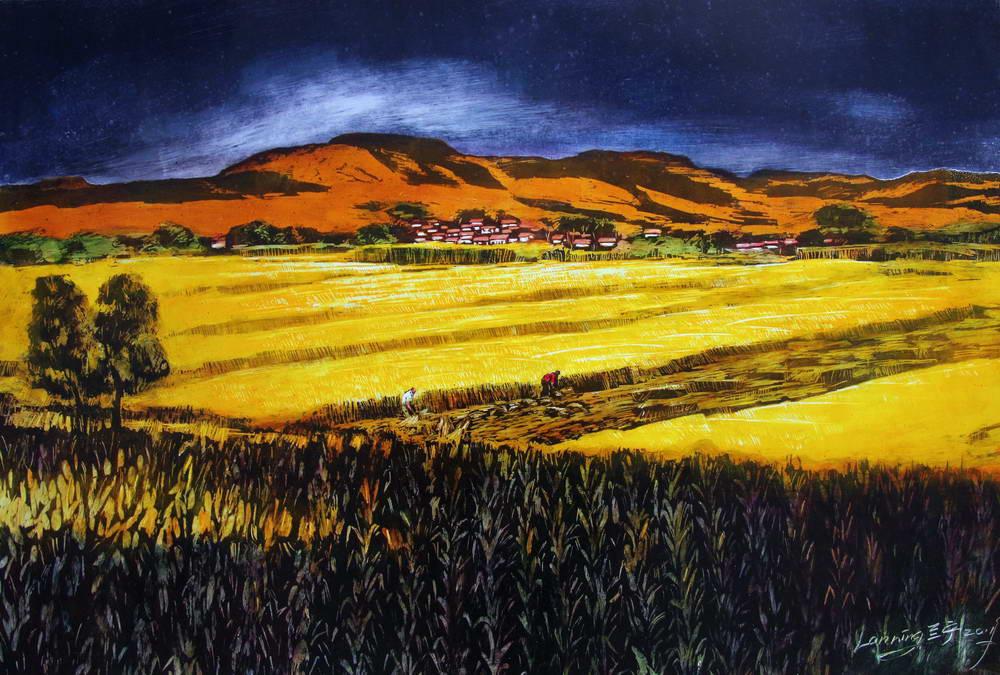 《生命与自然》兰宁油画·油墨画作品展