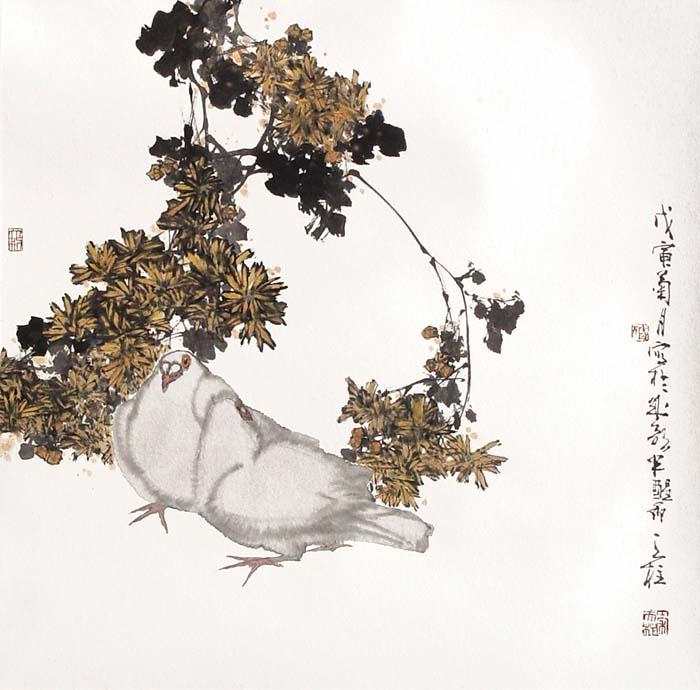 作品欣赏()秦天柱花鸟画 - 笑然 - xiaoran321456 的博客